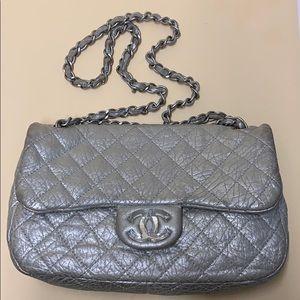 Crinkled Leather Single Flap Vintage Chanel